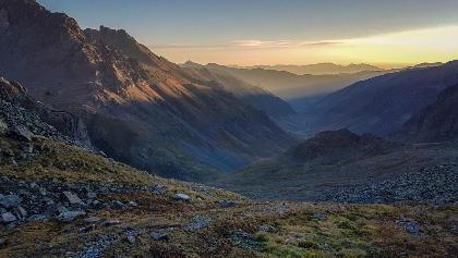 Sonnenaufgang hoch über dem Büyük Deresi Tal