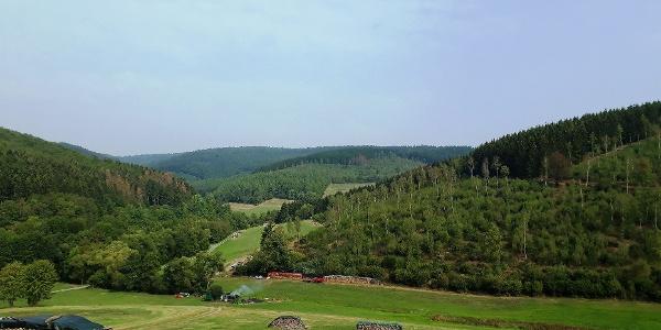 Schöne Aussicht ins Tal
