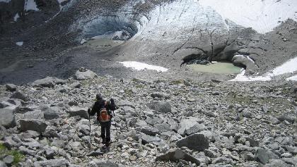 Rückblick zum Gletschertor