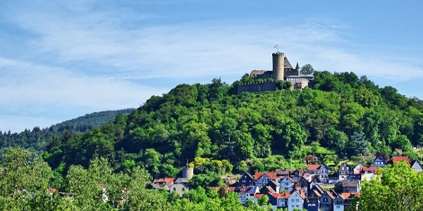 Blick auf Schloss Biedenkopf