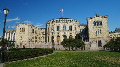 Norwegisches Parlament in Oslo