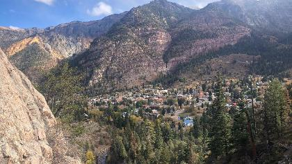 Views of Ouray from the Box Canyon bridge