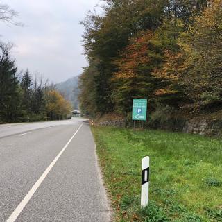 Kurz vor der Brücke schon in Deutschland