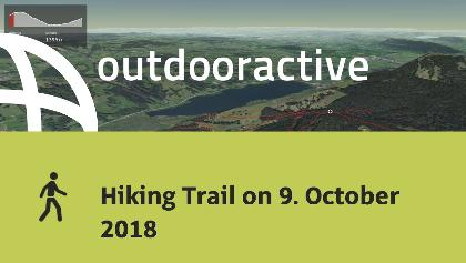 Interactive 3D flight: Hiking Trail on 9. October 2018