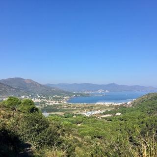 Views from the climb out of Port de la Selva