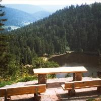 Blick zum Glaswaldsee