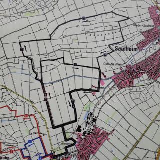 Kartendarstellung der Routen NW6 und NW7