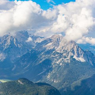 Blick vom Klettersteig