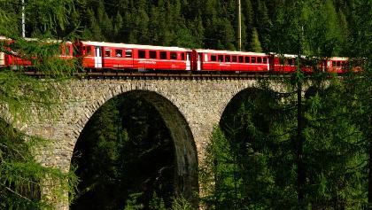 Bahnerlebnisweg zwischen Preda und Bergün.