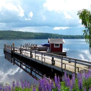 Blick auf den See Mullsjö