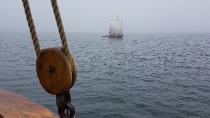 Traditional wooden sailing boats, Tjut Tjut as seen from Albanus