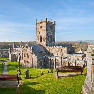 Die Kathedrale von St. Davids, der kleinsten Stadt in Wales