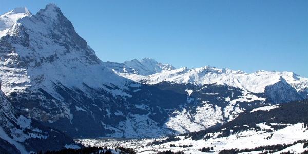 Blick von der Grossen Scheidegg nach Grindelwald.