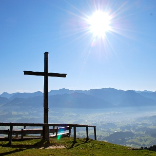 Summit cross on Ofterschwanger Horn