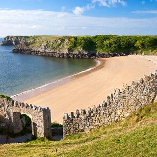 Barafundle Bay im Pembrokeshire Coast Nationalpark