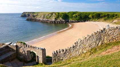 Barafundle Bay im Pembrokeshire Coast Nationalpark