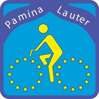 Routenlogo für den Dt.-Frz. Pamina-Radweg-Lautertal