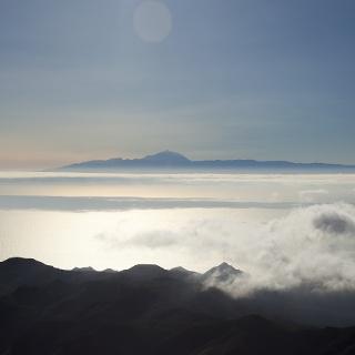 View to Tenerife from Altavista Mountain