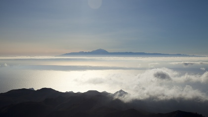 View to Tenerife from Altavista Mountain