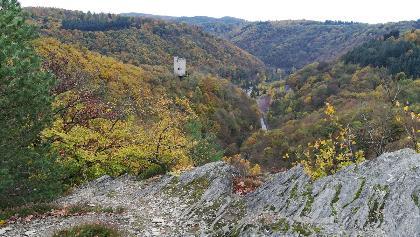 Blick auf die Burgruine Laurenburg