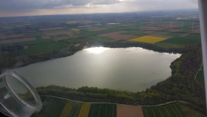 Der Blausteinsee aus der Luft fotografiert