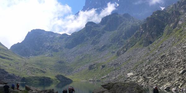 Lago Fiorenza vor dem Monviso