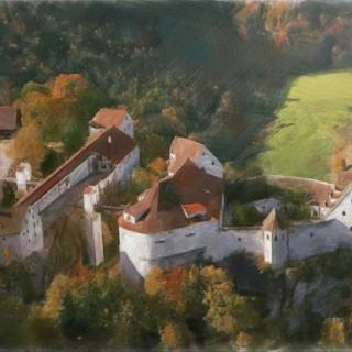 Burg Wildenstein in Öl