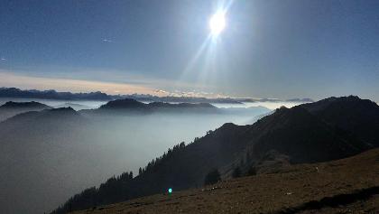 Blick vom Gipfel und der kleine Klettersteig