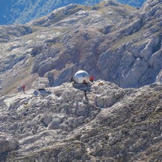 Die Cabaña Verónica von oben gesehen