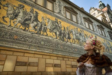 Foto Der Fürstenzug Dresden