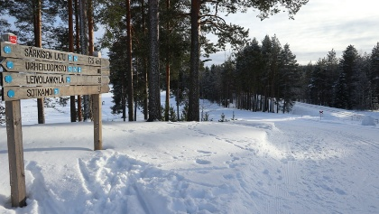1. Crossroad - skiing from Vuokatti to Sotkamo