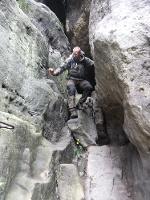 Foto Leichte Kraxelei im unteren Teil des Wintersteins (Hinteres Raubschloss)