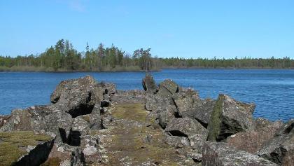Taxås - alter Hafen der Steinindustrie