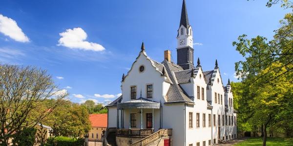 Schloss Burgk vom Schlosspark aus gesehen