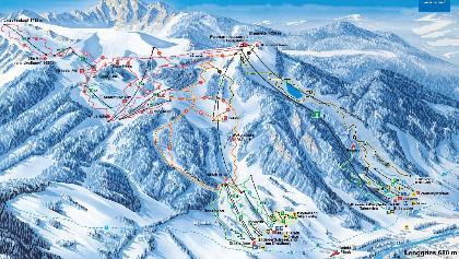 Winterpanorma Skiregion Brauneck-Wegscheid