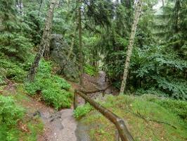 Foto Der Zustieg zum Winterstein (Hinteres Raubschloss)