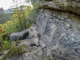 Foto Der untere Teil des Aufstiegs auf den Winterstein (Hinteres Raubschloss)