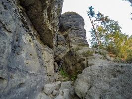 Foto Der untere Zustieg auf den Winterstein (Hinteres Raubschloss)