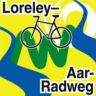 Routenlogo für den Loreley-Aar-Radweg