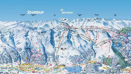 Pistenplan Davos Klosters: Schatzalp, Parsenn und Madrisa