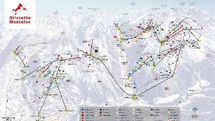Silvretta Montafon Pistenplan