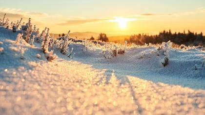 Sonnenaufgang im winterlichen Sauerland
