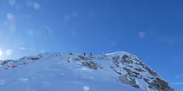 Cresta finale dell'itinerario di sci alpinismo a Monte Serodoli
