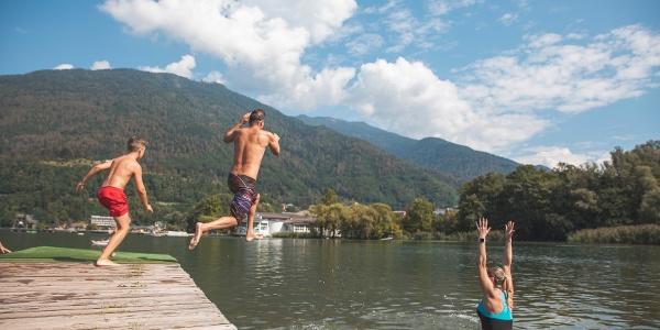 un tuffo al lago di Levico Terme