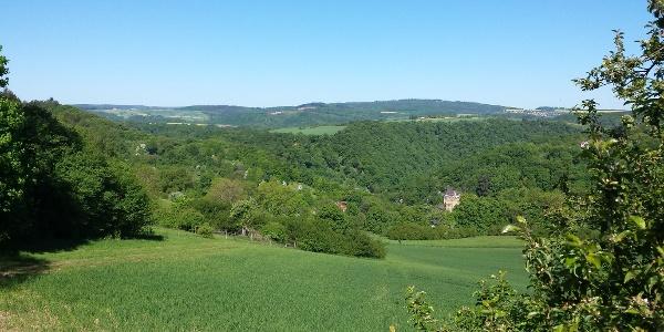 Blick auf Burg Balduinstein