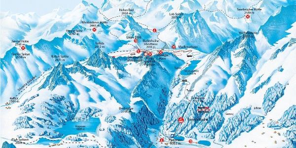 Pistenplan Silvretta Bielerhöhe
