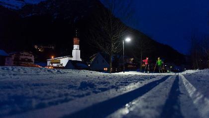 Ein besonders Erlebnis ist das Nachtlanglaufen in Klösterle am Arlberg.