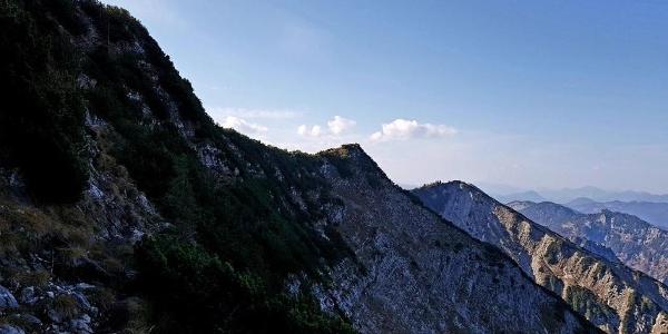 Weg zur Halserspitze - Blick nach Westen