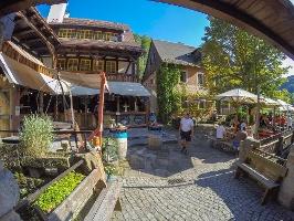 Foto Der wunderbare Biergarten Kastanienhof in Schmilka gegenüber der Mühlenbäckerei