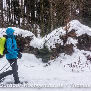 672a0682d06e16 Schneeschuhwanderung zur Mordaualm. Im Nationalpark gehts manchmal etwas  wüst und urig zu.